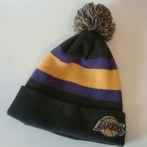 NEW unisex Lakers acrylic stocking cap 265e79c9189